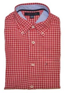 Tommy Hilfiger Men Checkard Classic Fit Logo Shirt (XXL