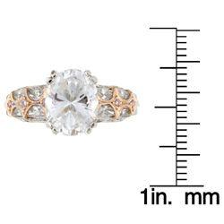 Tacori Platinum/ 18k Gold CZ and 3/4ct TDW Diamond Engagement Ring (G