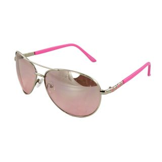 Pilot Fashion Aviator Sunglasses Silver and Pink Frame Pink Gradient