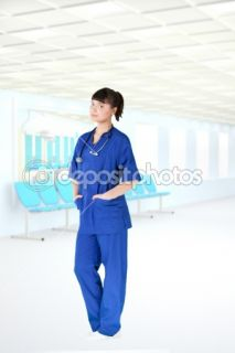 Modern hospital young girl doctor  Foto stock © Maksym Plotnikov