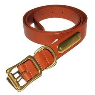 Polo Ralph Lauren Mens Cognac Brown Leather Belt Brass 36