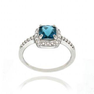 Glitzy Rocks Silver 2 1/6 CTW London Blue Topaz and Diamond Accent