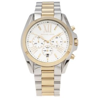 Michael Kors Womens Two tone Steel Bradshaw Chronograph Watch