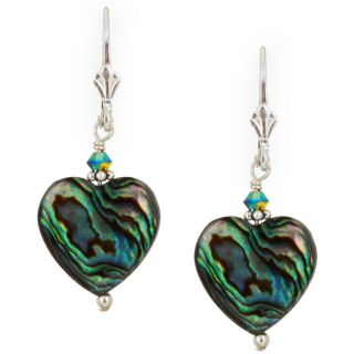 Charming Life Sterling Silver Paua Shell Heart Earrings Today $21.79