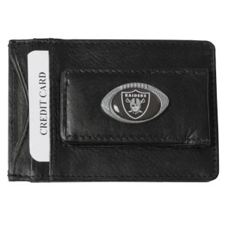 Oakland Raiders Mens NFL Genuine Leather Money Clip