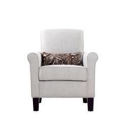 Portfolio Hyde Khaki Sand Linen Transitional Arm Chair
