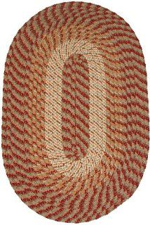 Plymouth 96 x 136 Braided Rug in Country Green Home