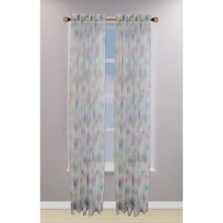 Kids 84 inch Floral Sheer Curtain Panel