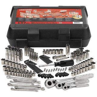 CRAFTSMAN 137 Piece Mechanics Tool Set   Model 9 35137 Includes 1/4
