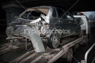 Car crash  Foto Stock © Boris Akhunov #10459466