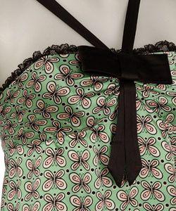 Betsey Johnson Charmeuse Butterfly Halter Dress