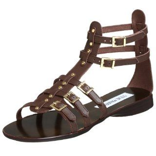 Steve Madden Womens Croww Sandal,Brown Leather,5.5 M US Shoes