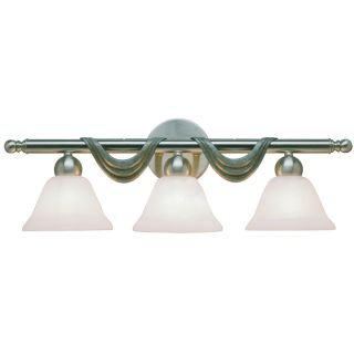 Aztec Lighting Contemporary 3 light Brushed Nickel Wall Sconce