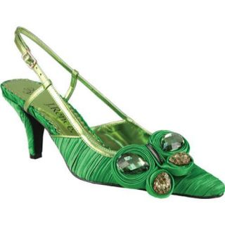 Womens J. Renee Alida Classic Green Pleated Fabric