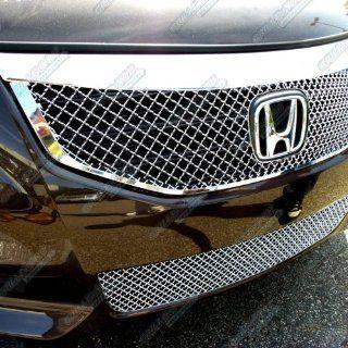 2011 2012 Honda Accord Sedan Stainless Steel Chrome X Mesh Grille