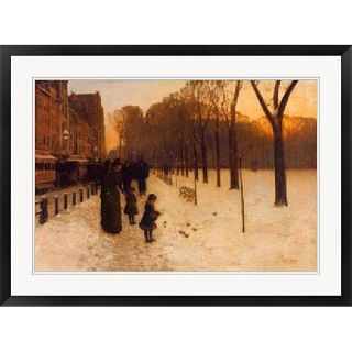 Hassam Boston Common at Twilight, 1885 86 Framed Art