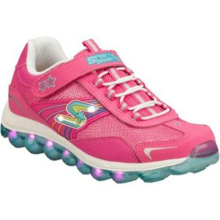 Girls Skechers Sporty Shorty Bubble Lights Pink