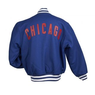 JH Designs Mens Chicago Cubs Domestic Wool Jacket