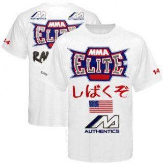 Rampage Jackson UFC 144 Walkout T Shirt   White (Large) Clothing