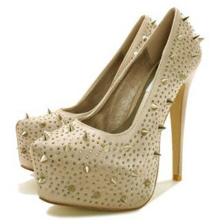 Buy Gutsy Stiletto Heel Spike Concealed Platform Court Pumps Shoes