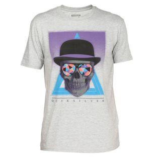 QUIKSILVER Tee Shirt Homme Gris, violet, bleu et orange fluo   Achat