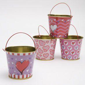 Valentine Tin Pails Toys & Games