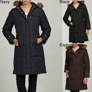 MICHAEL Michael Kors Womens Down filled Faux Fur Coat