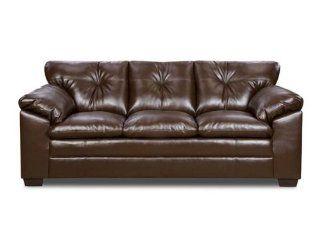 Simmons Coffee Bonded Leather Sofa