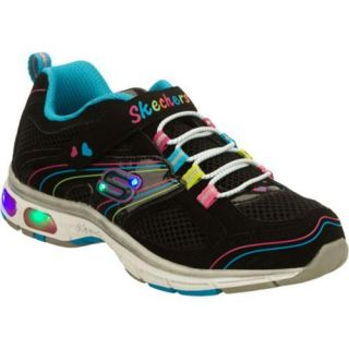 Girls Skechers S Lights Light Ray Black/Multi