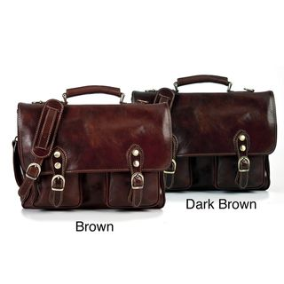 Alberto Bellucci Modena Italian Leather Messenger Bag