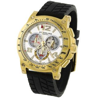 Stuhrling Original Mens Olympian Quartz Gold Watch