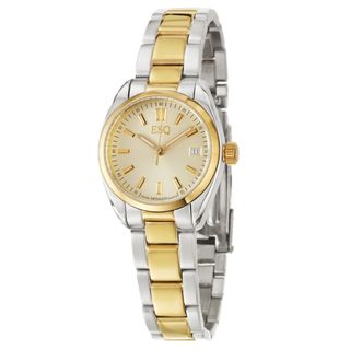 ESQ by Movado Womens Sport Classic Stainless and Yellow Goldplated