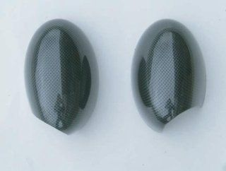 Mini Cooper Mirror Covers, Carbon Fiber Look Fits 2002 2006 Mini