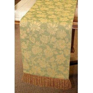 European Woven Floral 84 inch Table Runner