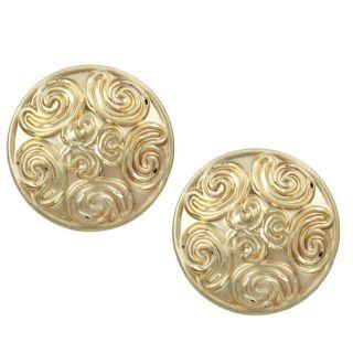 14k Yellow Gold Multiple Swirl Stud Earrings