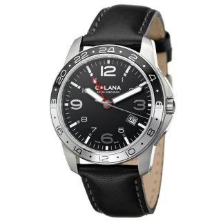 Golana Swiss Mens Aero Pro 300 Stainless and Leather Quartz Watch