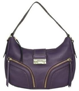 Franco Sarto Purple Leather Clara Hobo Clothing