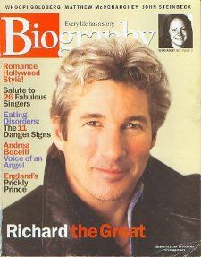 Biography Magazine February 2002   Richard Gere, Andrea Bocelli