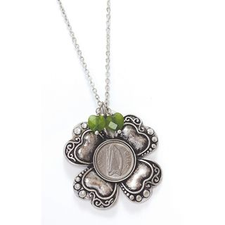 Irish Threepence Four Leaf Clover Pendant