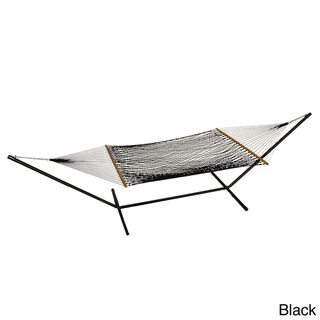 Phat Tommy Outdoor Oasis Hand Woven Olefin Rope Hammock