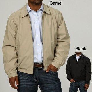 London Fog Mens Zip Front Adjustable Cuff Jacket