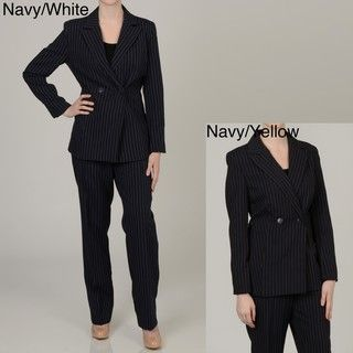 Allyson Cara Womens Plus Size Double breasted Pant Suit