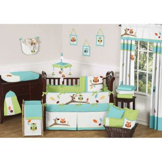 Sweet JoJo Designs Hooty 9 piece Crib Bedding Set Today $189.99