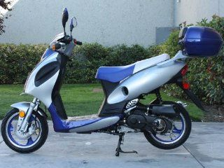 Sunny Powersports MC D150F BLUE Gas Rally 150cc Moped