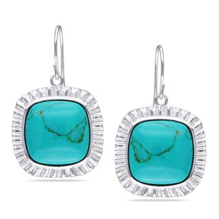 Sterling Silver Turquoise Hook Earrings
