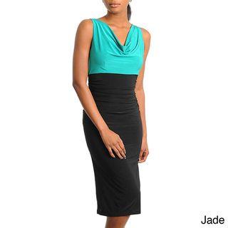 Stanzino Womens Solid Sleeveless Knee length Dress