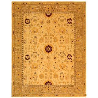 Handmade Timeless Ivory/ Sand Wool Rug (5 x 8)