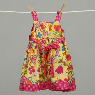 Good Lad Infant Girls Butterfly Floral Dress