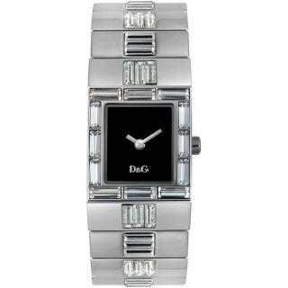 Dolce & Gabbana Womens Time White Crystal Watch