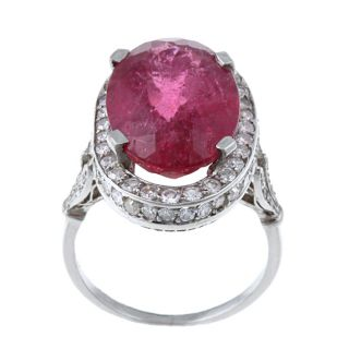 Platinum Pink Tourmaline and 1 4/5ct TDW Diamond Ring (K L, SI1 SI2